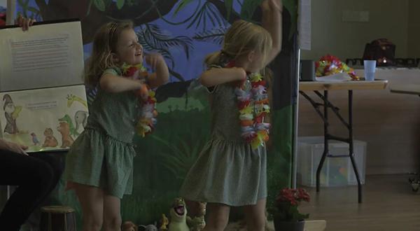 Hula dancers practicing