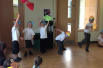 Lions perform for jungle friends